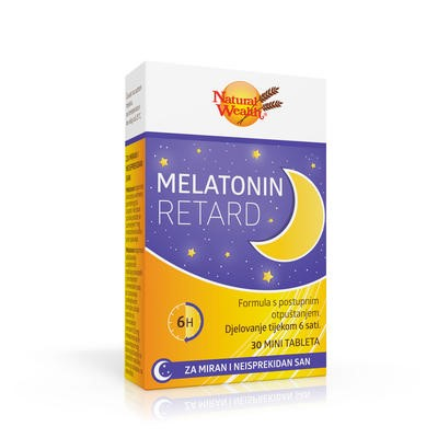 MELATONIN RETARD 30 tableta NATURAL WEALTH